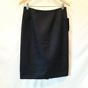 NWT Evan-Picone navy textured skirt